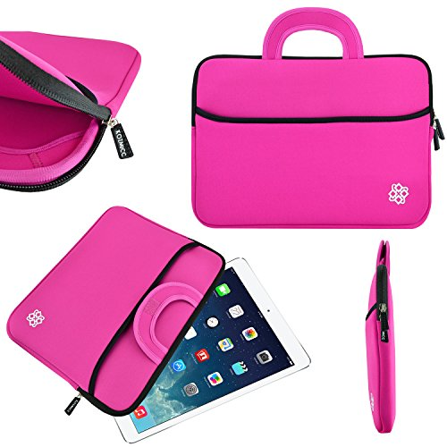 KOZMICC CR-6121B Water Resistant Neoprene Tablet Sleeve with Handle for 8.9 x 9-Inch Tablets - Pink