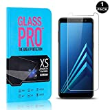 Galaxy A8 2018 Screen Protector, UNEXTATI® Premium HD Anti Scratch Tempered Glass Screen Protector Film for Samsung Galaxy A8 2018 (1 PACK)