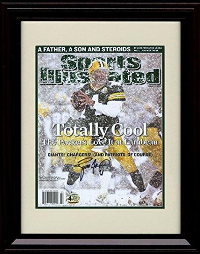 Framed Brett Favre Sports Illustrated Autograph Replica Print - Totally (Brett Favre Framed)
