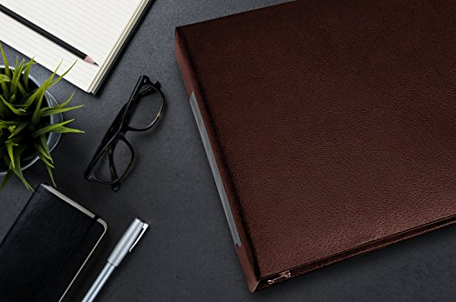 7 Ring Business Check Binder for 3 on a Page Checks   Large Storage Pouch, Calendar, and Ballpoint Pen Included, Burgundy by Essentially Yours (Image #3)