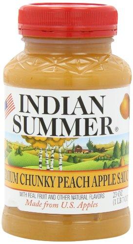 Indian Summer Chunky Peach Applesauce, 23-Ounces (Pack of 6)
