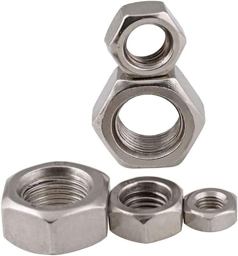 Fin Pas De Vis /À T/ête Hexagonale Nuts Fournitures De Bricolage Size : M6 x 0.75 20pieces 1-20Pcs M6 DIN934 M8 M10 M12 M14 M16 M18 M20 M22 M24 304 en Acier Inoxydable /Écrou Hexagonal