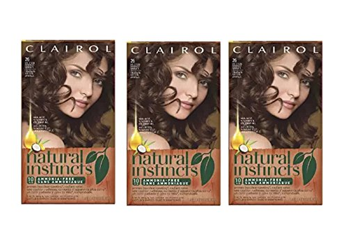 Clairol Natural Instincts Hair Color 26 Hot Cocoa Medium Bronze Brown 1 Kit  (Pack of 3) Clairol Bronze Hair Color