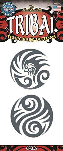 Tinsley Transfers Circles Tribal Temporary FX Tattoo, Black