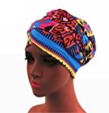 Turban Hat Headband Head Wrap - Magic Jersey Turbans HeadWrap Chemo Cap Tube Scarf Tie Hijab For Hair Muslim bohemian boho Black African Women