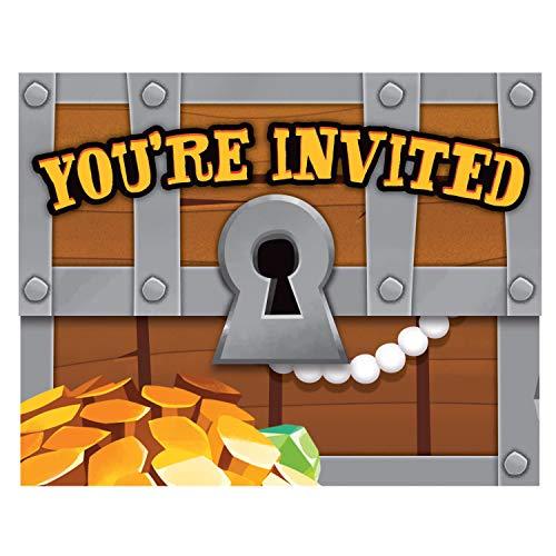 Treasure Island Pirate Invitations, 8 ct -
