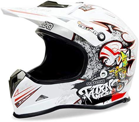 ZJJ ヘルメット- モトクロスフルカバーヘルメット、ユニセックスヘルメット、フォーシーズンズユニバーサルヘルメット (色 : 赤, サイズ さいず : L l)