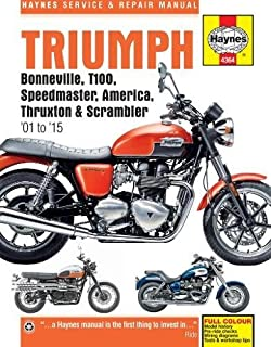 Triumph Bonneville (01 - 15) Haynes Repair Manual (Haynes Service & Repair Manual