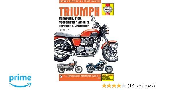 triumph bonneville t100 speedmaster america thruxton scrambler rh amazon com 2009 triumph bonneville service manual Triumph Bonneville Touring