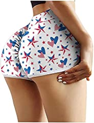 UBST High Waist Shorts Butt Lifting Yoga Shorts for Women Casual Tummy Control Ruched Running Booty Bike Short
