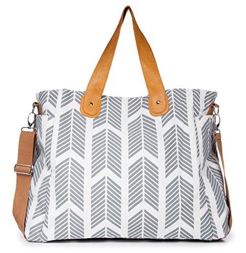 Gray Arrows Weekender Tote Bag by White Elm