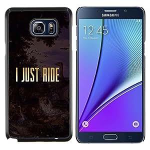 Stuss Case / Funda Carcasa protectora - Sólo Cabalgata Religión Libertad de Oro Texto - Samsung Galaxy Note 5