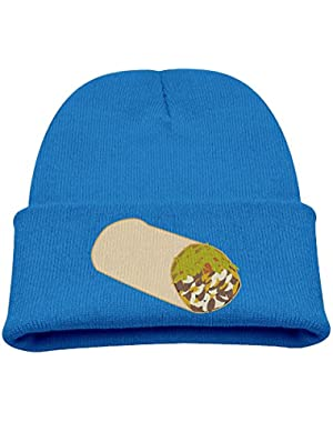 Mexican Burrito Kid's Hats Winter Funny Soft Knit Beanie Cap, Unisex
