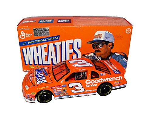 AUTOGRAPHED 1997 Dale Earnhardt Sr. #3 Goodwrench Service Team ORANGE WHEATIES CAR (Richard Childress Racing) Winston Cup Series Action 1/24 NASCAR Collectible Diecast Car with COA