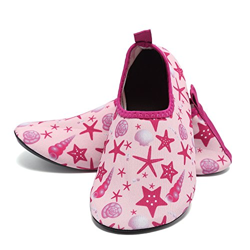 Cior Uomo Donna E Bambini Quick-dry Water Shoes Calze Aqua Leggere Per Beach Pool Surf Yoga Esercizio 07.pink