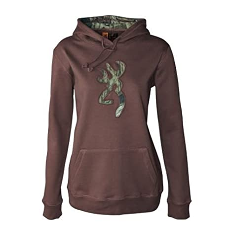 1e05366b72ff9 Image Unavailable. Image not available for. Color: Browning Womens Buckmark  Camo Hickory Brown Hoodie Sweatshirt 2XL