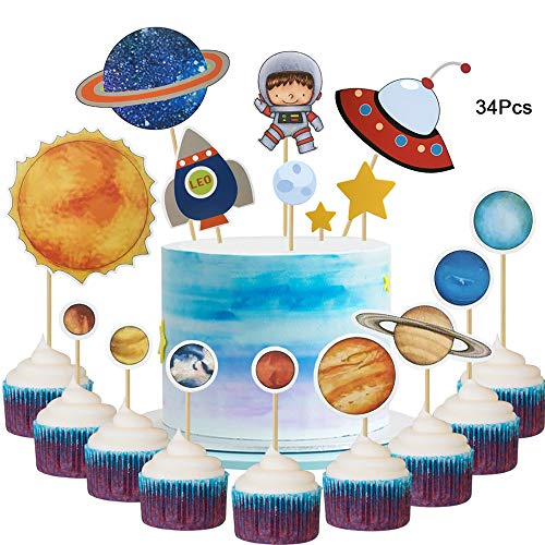 space theme cake decorations - 7