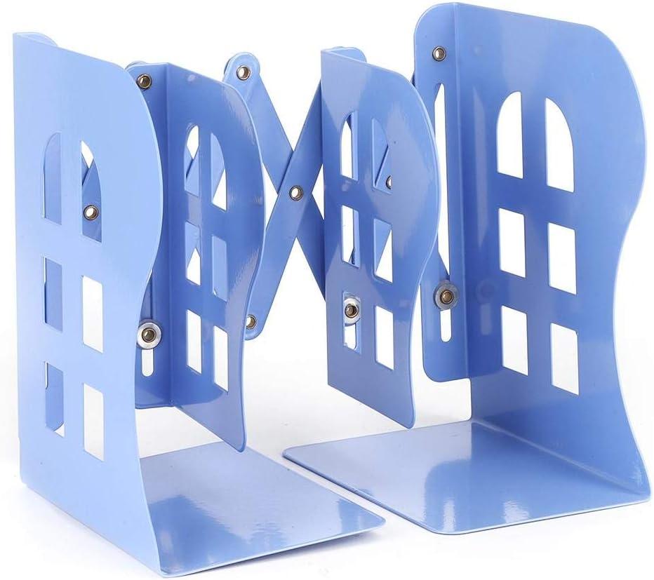 Blu Organizer per libri estensibile con portariviste regolabile in acciaio inossidabile a libro regolabile
