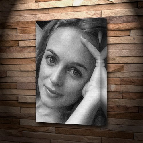 HEATHER GRAHAM - Canvas Print (LARGE A3 - Signed by the Artist) #js001