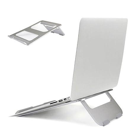 Leegoal Soporte de Aluminio para Ordenador Portátil, Ligero y Portátil, Plegable para MacBook/