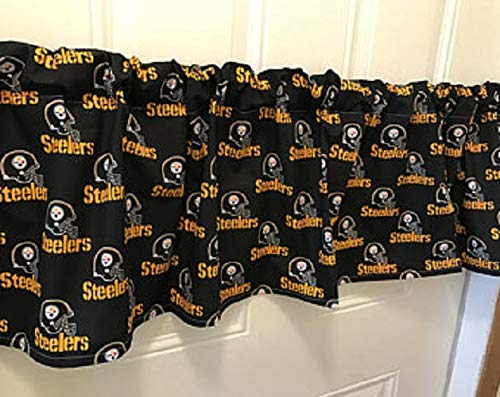 Pittsburgh Steelers Football Curtain Valance