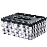 LaaLaa Multifunction PU leather tissue box, Home practical Tissue box,Office desktop Storage Box, car Carry Paper box remote control Storage Box,Office desktop Storage Box,A1