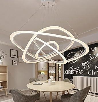 Ringleuchte Ringe Vier Hängelampe Wohnzimmer Modern Led Dimmbar ...