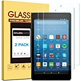 [2 Pack] Fire HD 8 Screen Protector/Fire HD 8 Kids Edition Screen Protector, SPARIN [Tempered Glass] [HD Clear] Screen Protector for Fire HD 8 & Kids Edition Tablet