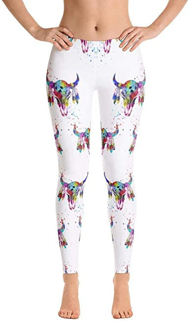 barn smile Womens Ultra Soft Leggings Fashion Seamless Stretch Pants for Horse Lovers-sk08