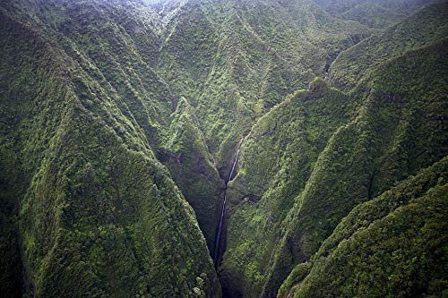 Home Comforts Laminated Poster Hawaii Landscape Waterfall Mountains Kauai Island Vivid Imagery Poster Print 11 x 17