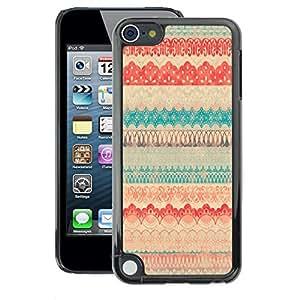 A-type Arte & diseño plástico duro Fundas Cover Cubre Hard Case Cover para Apple iPod Touch 5 (Vintage Vignette Cloth Textile Pattern Quilt)