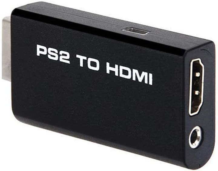 SOUTHSKY Mini PS2 a HDMI Conversor de vídeo Adaptador con 3,5 mm Salida de Audio para 480p TV HDMI Monitor: Amazon.es: Videojuegos