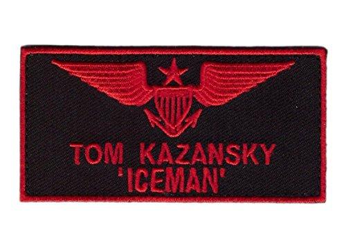 Top Gun movie Tom Kazanski Iceman IRON -ON Patch by Miltacusa