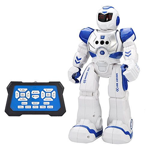 Remote Control Robot Kids Toys -CHOTOP RC Humanoid Robot Kit for Children Best Selling GIFT Products Armored Popular Science,Programmable,Interactive,Smart Coolest,Dancing,Rechargeable,Educational Toy ()