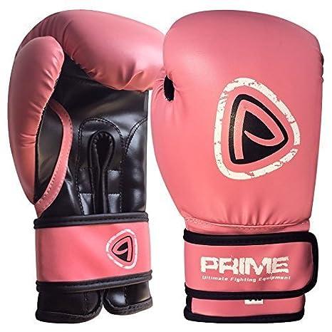 Prime Pelle Nuovo Macchina Modellato Schiuma Sparring Boxe Guanti Combattere Punzone Rex Pelle Punzonatura Borsa Rosa 177,4 Ml & 236.6ml - 177,4 ml, Rosa Prime Leather
