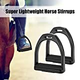 Godyluck 2 PCS Horse Riding Stirrups Plastic Horse Saddle Anti-Skid Horse Pedal Super Lightweight Equestrian Safety Equipment