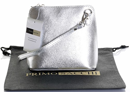 Silver Leather Bag - 1
