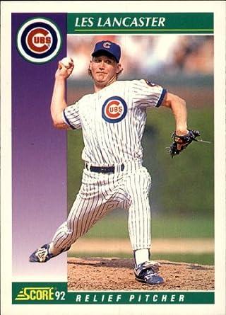 Amazoncom 1992 Score Baseball Card 348 Les Lancaster
