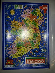 Ireland Map Jigsaw Puzzle by James Hamilton Grovely by JR Puzzles