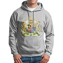X-JUSEN Men's Coat Of Arms Of India National Emblem Hoodies Hooded Sweatshirt Pullover Sweater, Super Soft Hooded Sport Outwear