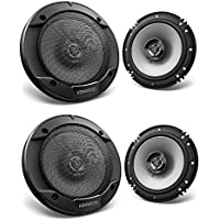 Kenwood KFC-1666S 600W Max (60W RMS) 6.5 KFC 2-Way Coaxial Car Speakers