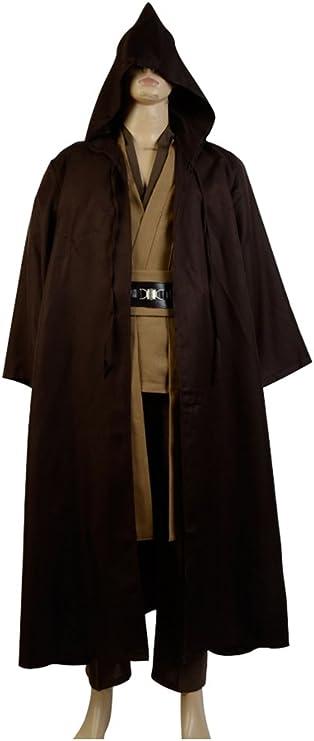 OBI WAN Kenobi Jedi Traje de Cosplay Disfraz Outfit Marrón Hombres ...