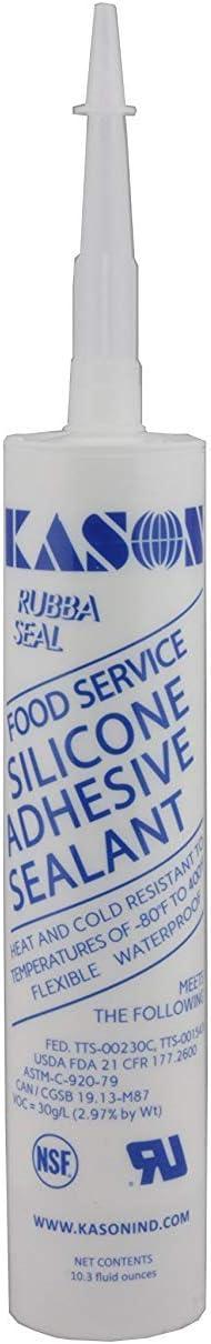 Kason 3700 Series Rubbaseal Silicone Sealant, Clear 10.3 oz. Tube, 63700000001