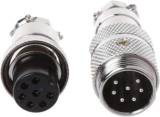 ATATMOUNT Gx16 Butting Aviation Stecker Stecker Buchse 2//3//4//5//6//7//8 Pin