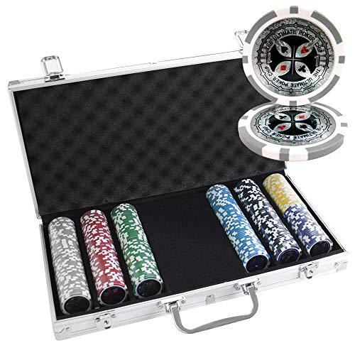 300 Ct Ultimate 14 Gram Clay Poker Chip Set w/Aluminum Case (Aluminum 300 Case Chip)