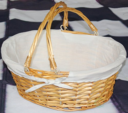 Vintiquewise(TM) QI003055.WF Oval Willow Basket with Double Drop Down Handles by Vintiquewise (Image #2)