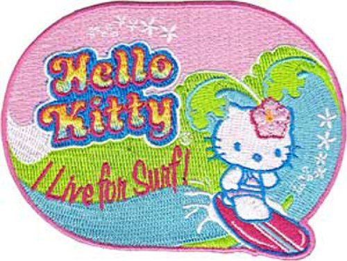 Application Hello Kitty Live for Surf Patch Embroidered Brads