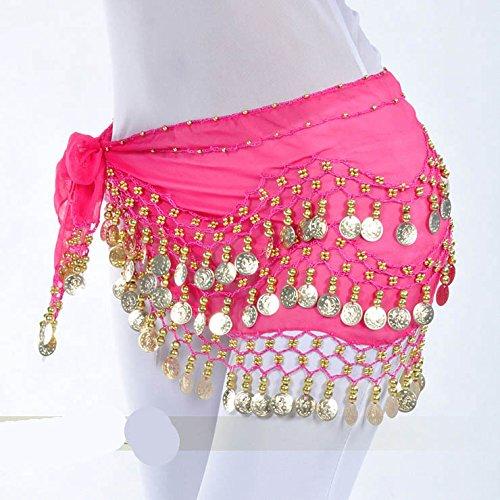 nbsp;pièces Belly Cadeau Idée 4 128 Hip d'or Dance Vogue Écharpe Style Style wZdRpE