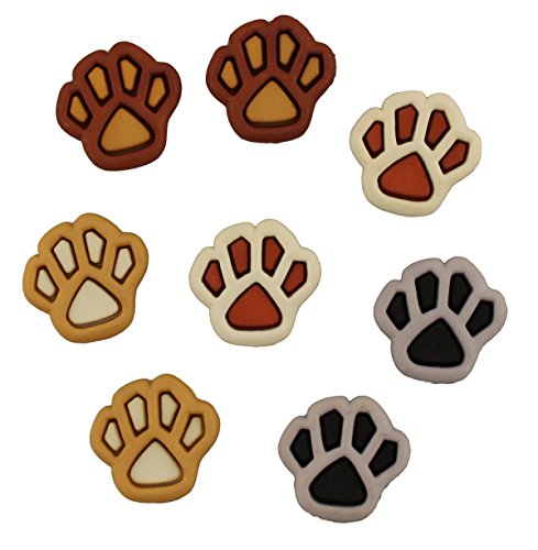 (Buttons Galore Craft & Sewing Buttons - Pets Paw Prints - 3 Pack)