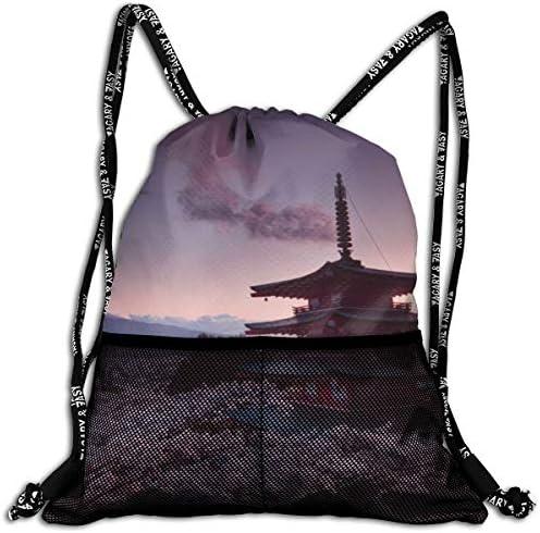 富士山 ふじさん6 ナップサック アウトドア ジムサック 防水仕様 バッグ 巾着袋 スポーツ 収納バッグ 軽量 バッグ 登山 自転車 通学・通勤・運動 ・旅行に最適 アウトドア 収納バッグ 男女兼用 ジムサック バック